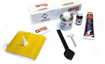 Juego de adhesivo para componentes aerodinámicos