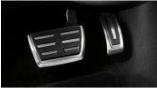 Fundas de pedales en acero inoxidable - para vehículos con cambio automático, Solo para vehículos con el volante a la derecha