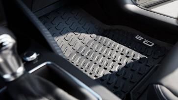 Alfombrillas para todo tipo de clima -  para la parte delantera, negras, Solo para vehículos con el volante a la izquierda