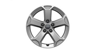 Llanta de aluminio fundido de invierno en diseño Latus de 5 brazos - plateado brillante, 7 J x 17