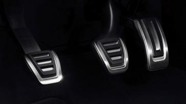 Fundas de pedales en acero inoxidable - para vehículos con cambio manual, Solo para vehículos con el volante a la izquierda