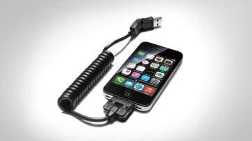 Adaptador USB - para teléfonos móviles con conector Apple Dock