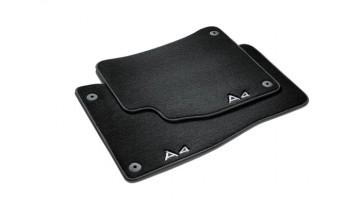 Alfombrillas textiles Premium - Para la parte delantera, negro/gris acero, Solo para vehículos con el volante a la derecha