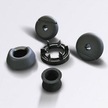 Paquete de casquillos de plástico para reequipamiento de preinstalación multimedia,negro