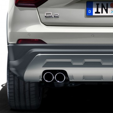 Embellecedor de tubo de escape deportivo para vehículos con tubo de escape simple a la izquierda, negro cromado