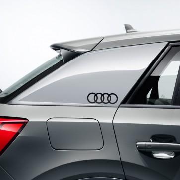 Lámina decorativa anillos Audi Negro brillante