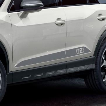 Juego de láminas para talonera con aros Audi gris platino mate