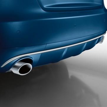 Embellecedores de tubo de escape deportivos Para vehículos con tubo de escape simple a la izquierda/derecha, aspecto de aluminio mate