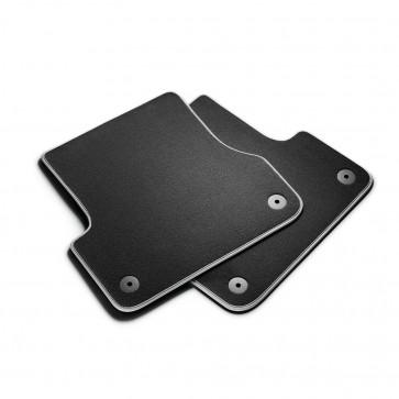 Alfombrillas textiles Premium para la parte trasera, negro/gris plateado