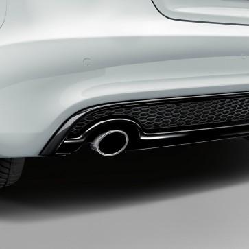 Embellecedor de tubo de escape deportivo para vehículos con tubo de escape simple a la izquierda, cromado plateado