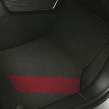 Alfombrillas textiles decorativas colour kit red para delante y detrás, negro/rojo misano