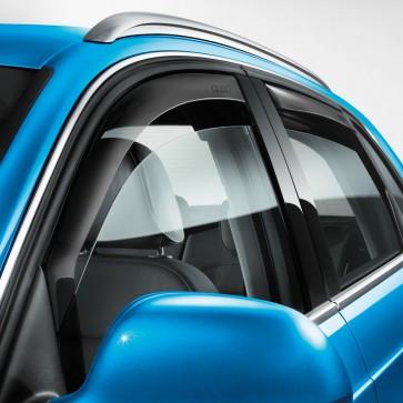 Deflector de aire delantero, para vehículos con moldura del hueco para el cristal cromada