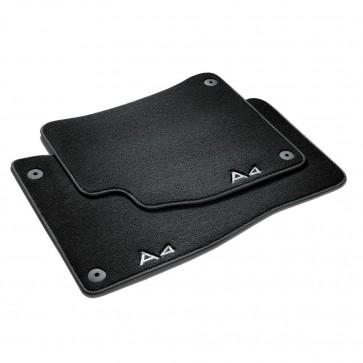 Alfombrillas textiles Premium, delantera y trasera negro/gris acero