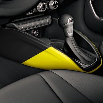 Embellecedores para la consola central amarillo macao/negro brillante