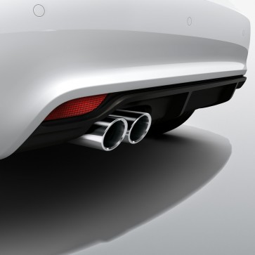 Difusor trasero para vehículos con tubo de escape doble, imprimado