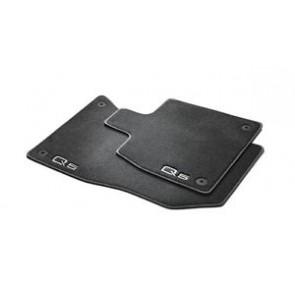 Alfombras textiles PREMIUM - para el frente, negro / acero-gris, Sólo para vehículos con volante a la derecha