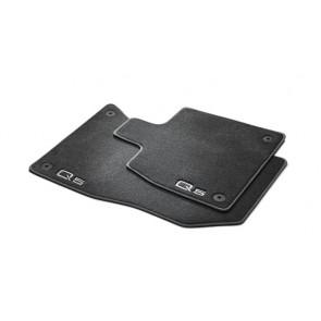 Alfombrillas textiles Premium - para la parte delantera, negro/gris acero, sólo para vehículos con volante a la izquierda