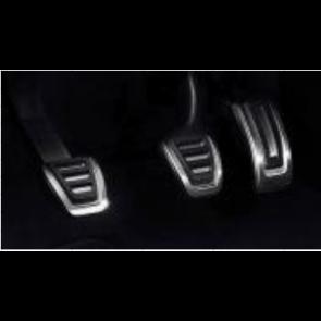 Fundas de pedales en acero inoxidable - para vehículos con cambio manual, Solo para vehículos con el volante a la derecha