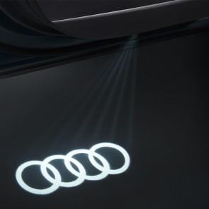 LED de acceso con anillos de Audi para vehículos con luces de acceso halógenas