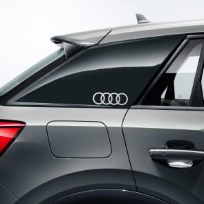 Lámina decorativa anillos Audi Plata Florete