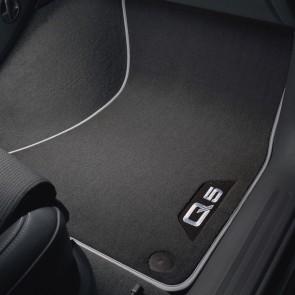 Alfombrillas textiles Premium, delantera y trasera negro/gris plata