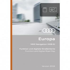Función de navegación y datos de navegación Versión para Europa 2018 (MIB-S)