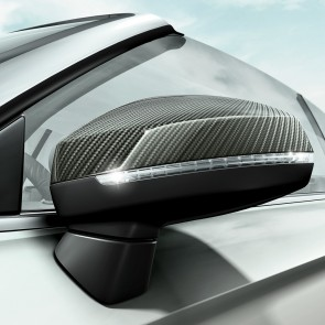 Carcasa del retrovisor exterior en carbono, para vehículos con Audi side assist