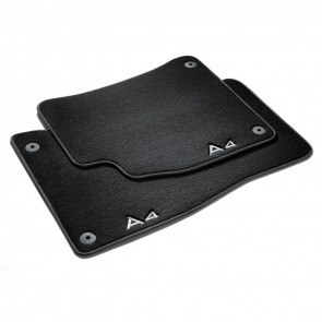 Alfombrillas textiles Premium Para la parte trasera, negro/gris acero