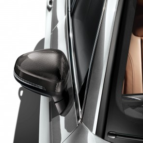 Carcasa del retrovisor exterior en carbono, para vehículos sin Audi side assist