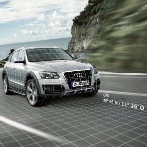 Soporte GPS para asistente de localización Audi para vehículos con dispositivo de enganche para remolque