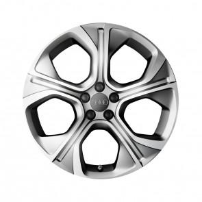 Llanta de fundición de aluminio en diseño poligonal de 5 brazos plateado mate, 7,5 J x 18