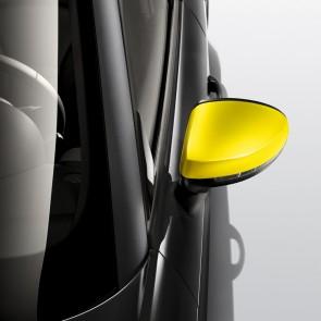Embellecedores de la carcasa del retrovisor exterior amarillo macao, izquierda