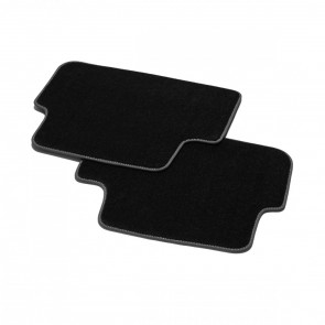 Alfombrillas textiles Premium, trasera negro/gris