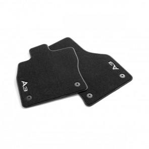 Alfombrillas textiles Premium, delantera negro/gris acero